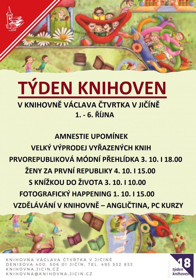 Týden knihoven 2018: plakát
