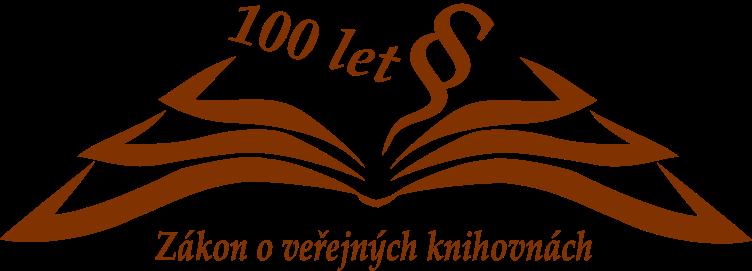 logo 100 let zákona o veřejných knihovnách
