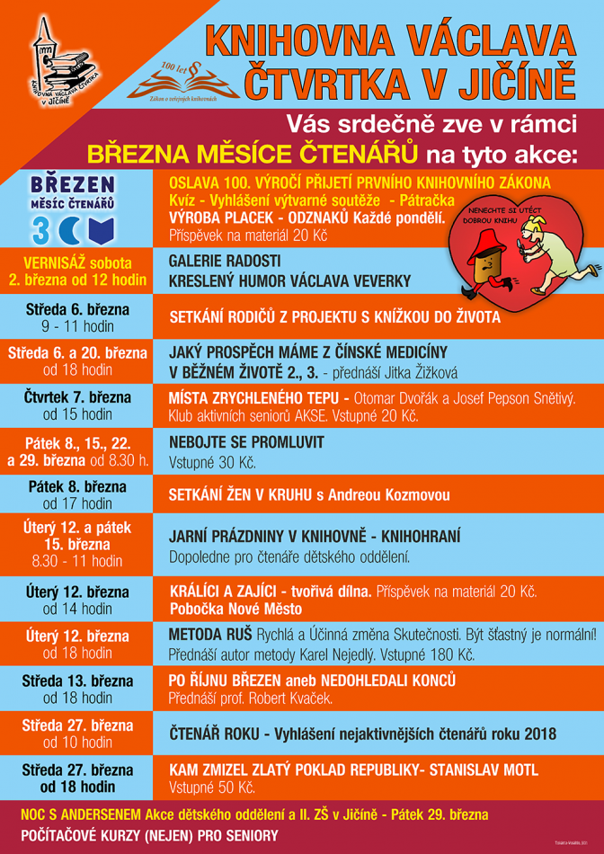 Plakát Březen, měsíc čtenářů